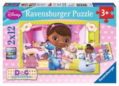 Ravensburger Puzzleset Doc McStuffins Kleine Spielzeugärztin 2 x 12 Teile