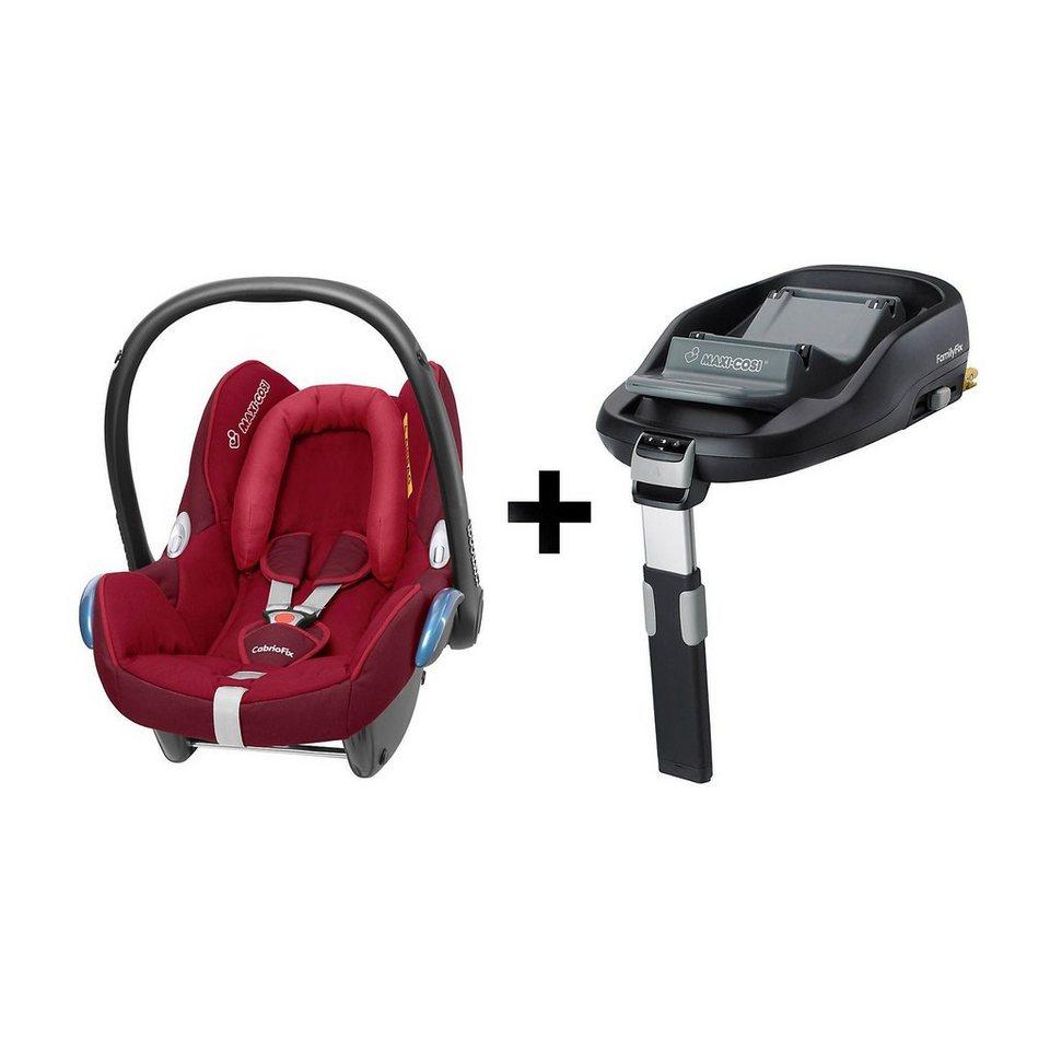 maxi cosi babyschale cabriofix raspberry red inkl familyfix online kaufen otto. Black Bedroom Furniture Sets. Home Design Ideas
