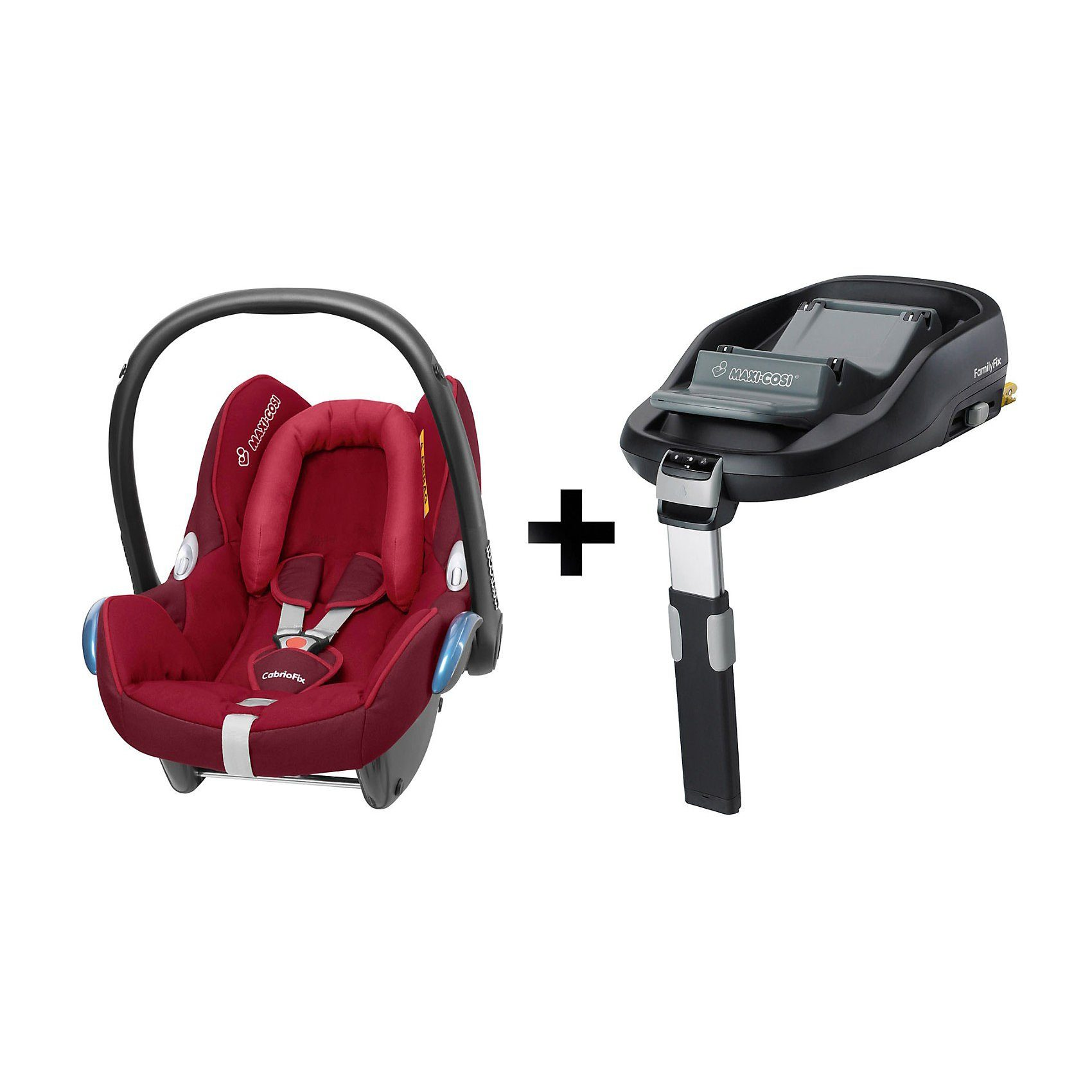 Maxi-Cosi Babyschale Cabriofix, Raspberry Red, inkl. FamilyFix