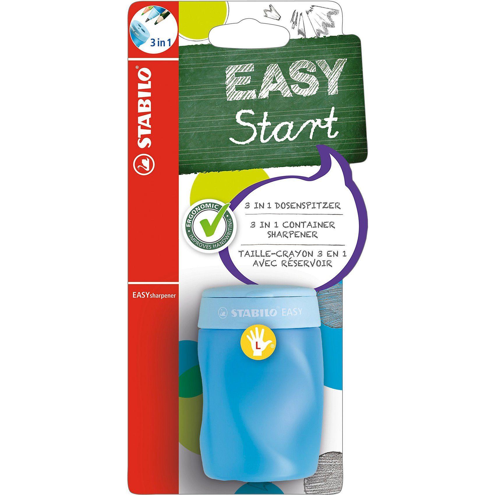 Stabilo Dosenspitzer EASYsharpener 3 in 1 für Linkshänder blau