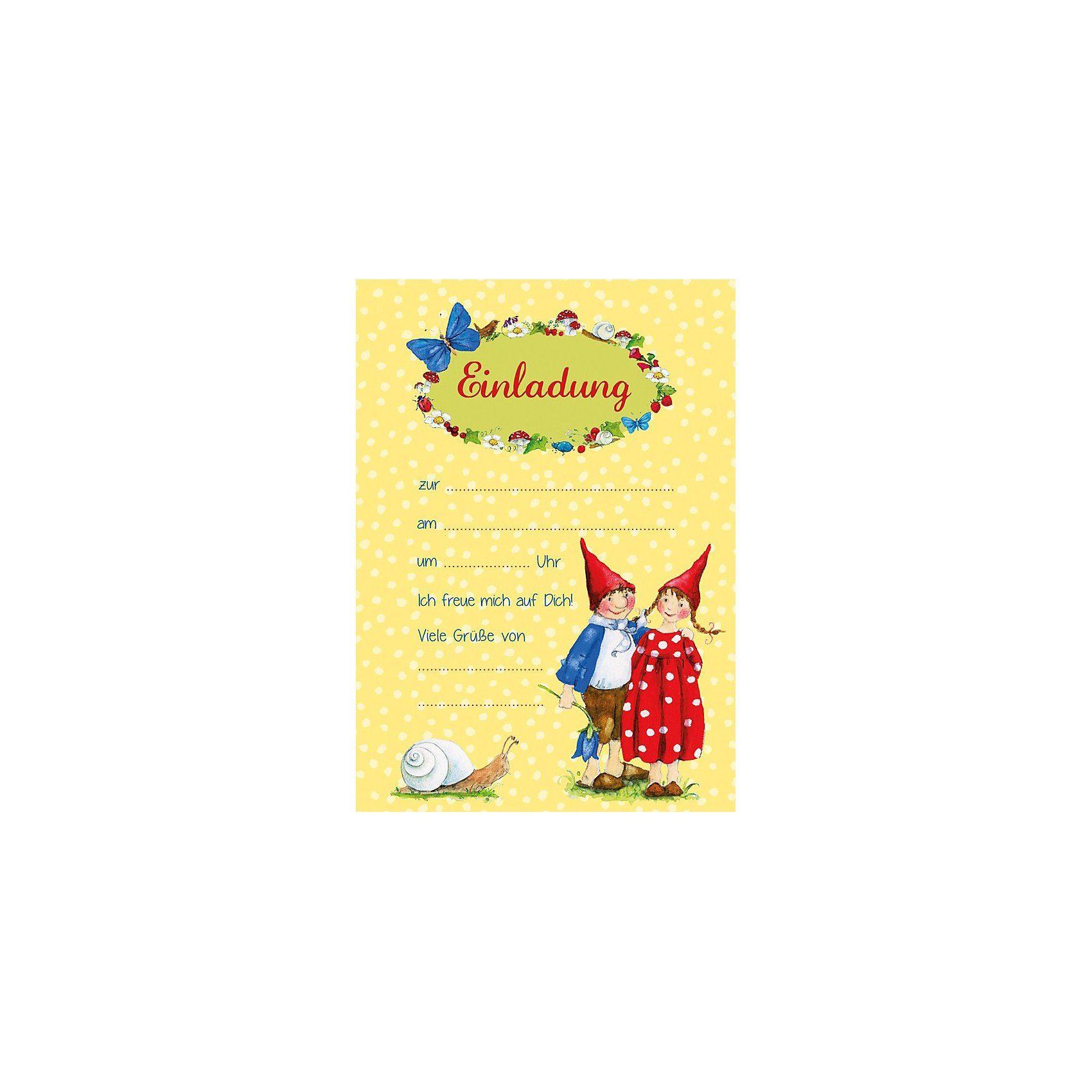 Grätz Verlag Einladungsbriefe im Set Pippa & Pelle, A5, 8 Stück inkl. Ums