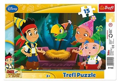 Trefl Rahmenpuzzle - 15 Teile - Jake und die Nimmerlandpiraten