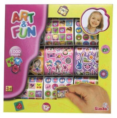 Simba Art & Fun 1000 Girls Sticker, 2-sort.