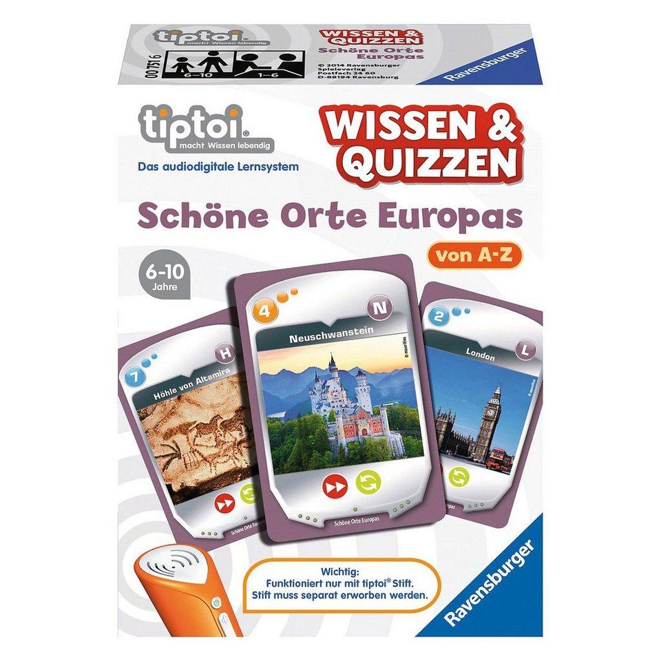 Ravensburger tiptoi® Wissen & Quizzen: Orte Europas (ohne Stift)