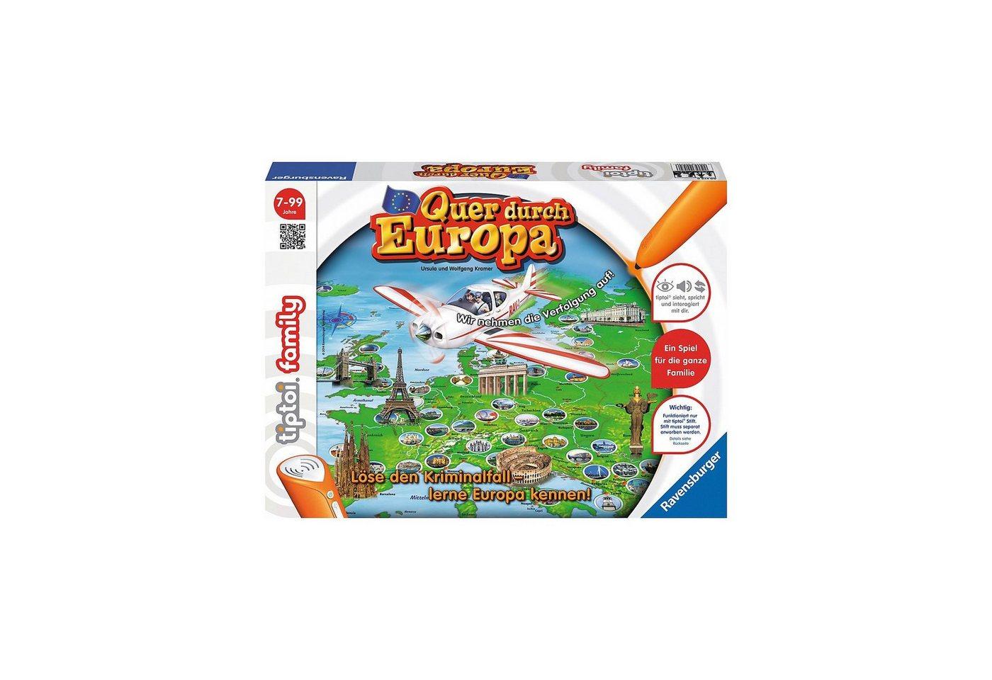 Ravensburger tiptoi® Quer durch Europa (ohne Stift)