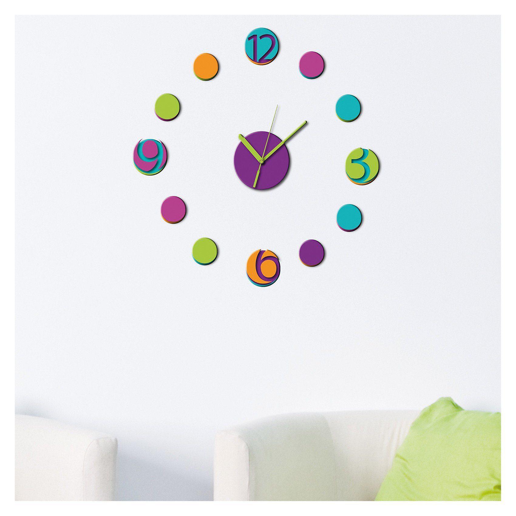 Wandsticker 3D Uhr, 13-tlg.