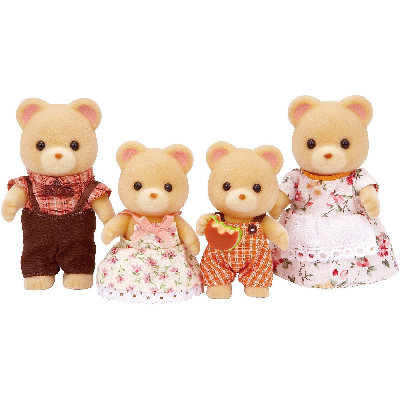 Epoch Traumwiesen Sylvanian Families Bären: Familie Pelzig Puppenhauszubehör