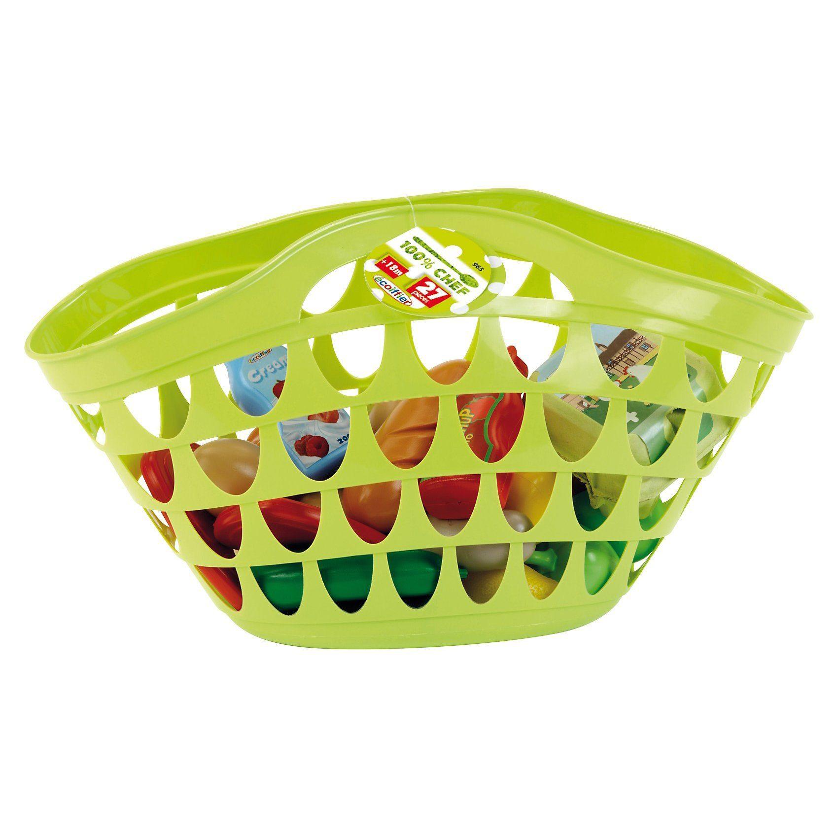 écoiffier Einkaufstasche mit Spiellebensmittel