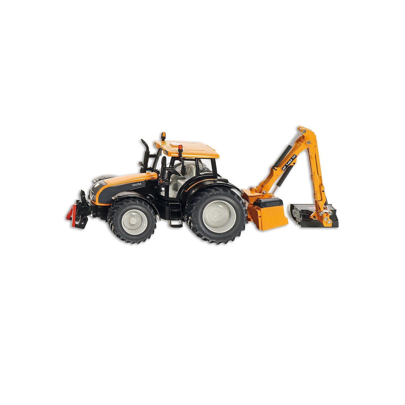 SIKU Farmer 3659 Valtra Traktor mit Kuhn Böschungsmähwerk 1:32