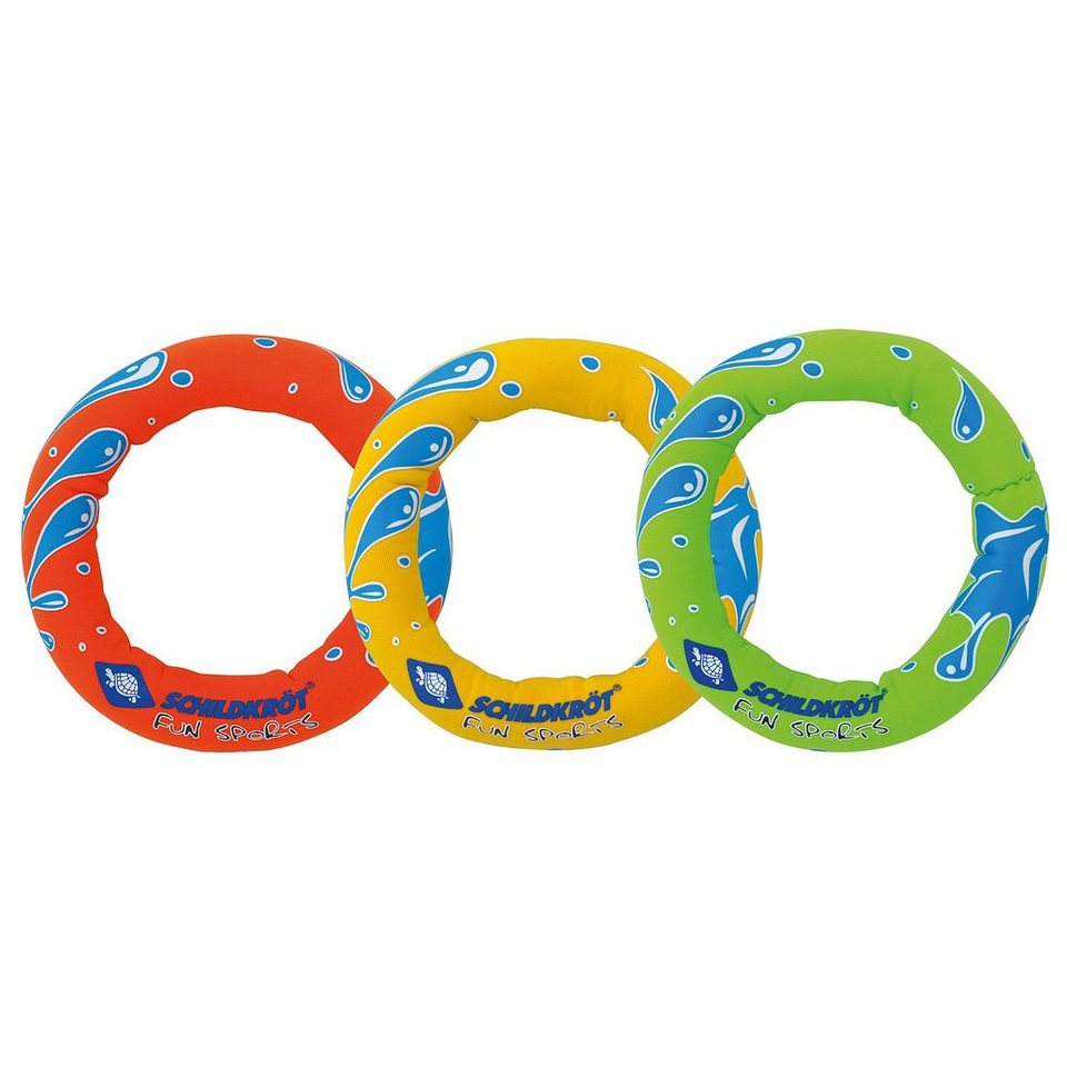 Schildkröt Funsports Neoprene Tauch Ringe in gelb/rot