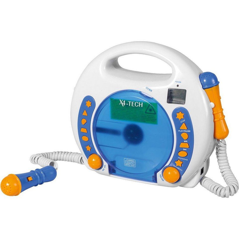 X4-TECH Kinder CD-Player Bobby Joey inkl. MP3, Blau