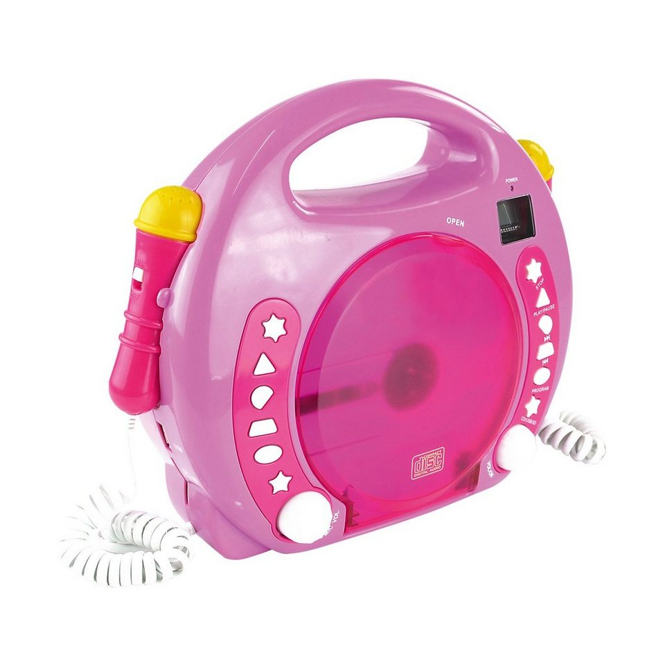 X4-TECH Kinder CD-Player Bobby Joey inkl. MP3, Pink