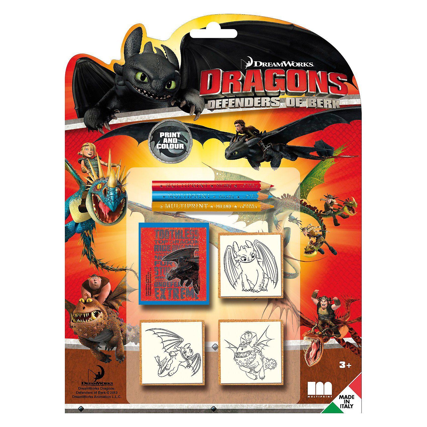 Amigo 3er Stempelset Dragons
