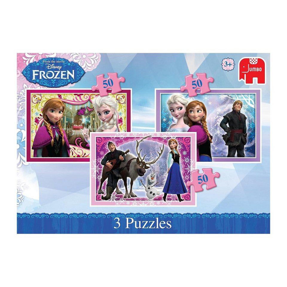 Jumbo Disney Die Eiskönigin 3in1 Puzzles 50 Teile