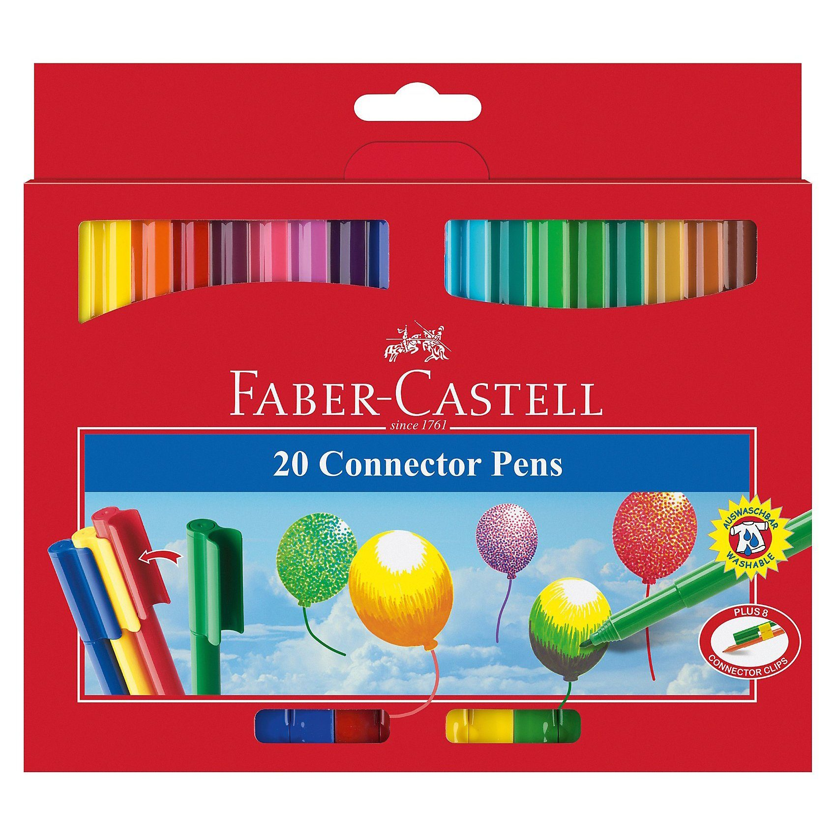 Faber-Castell CONNECTOR Pen Filzstifte, 20 Farben