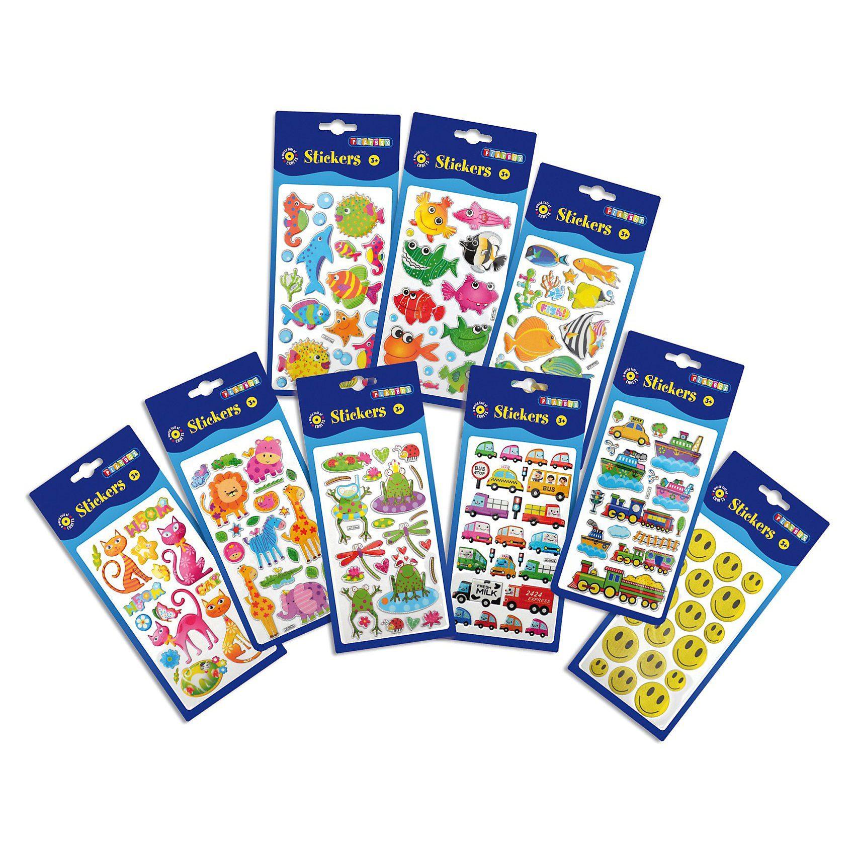 Playbox Puffy Stickers, über 100 Stück