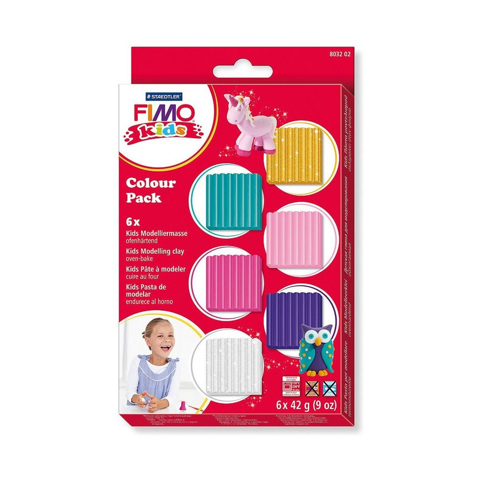 FIMO kids Materialpackung girlie, 6 x 42 g