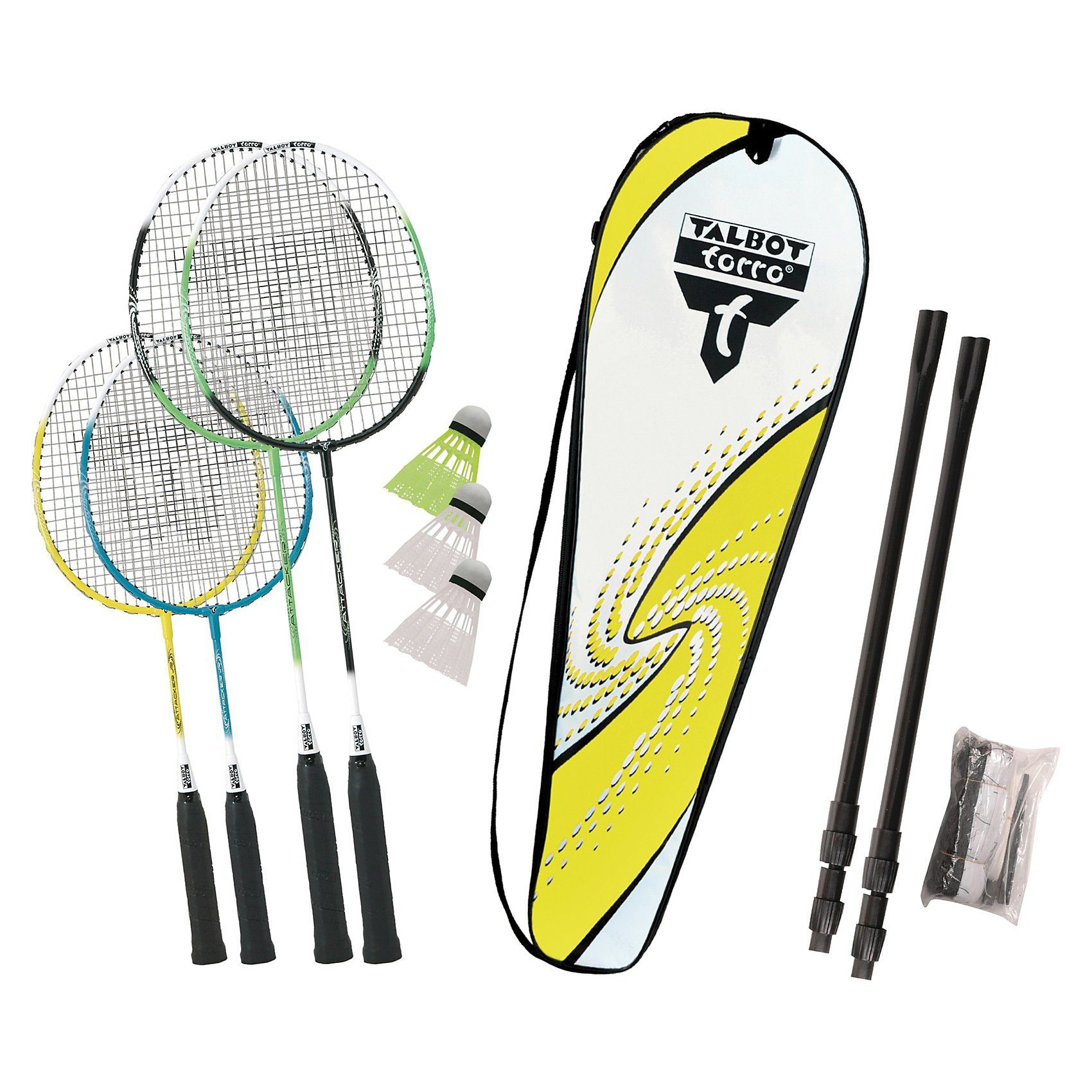 Talbot-Torro Badminton Set Family mit Transporttasche