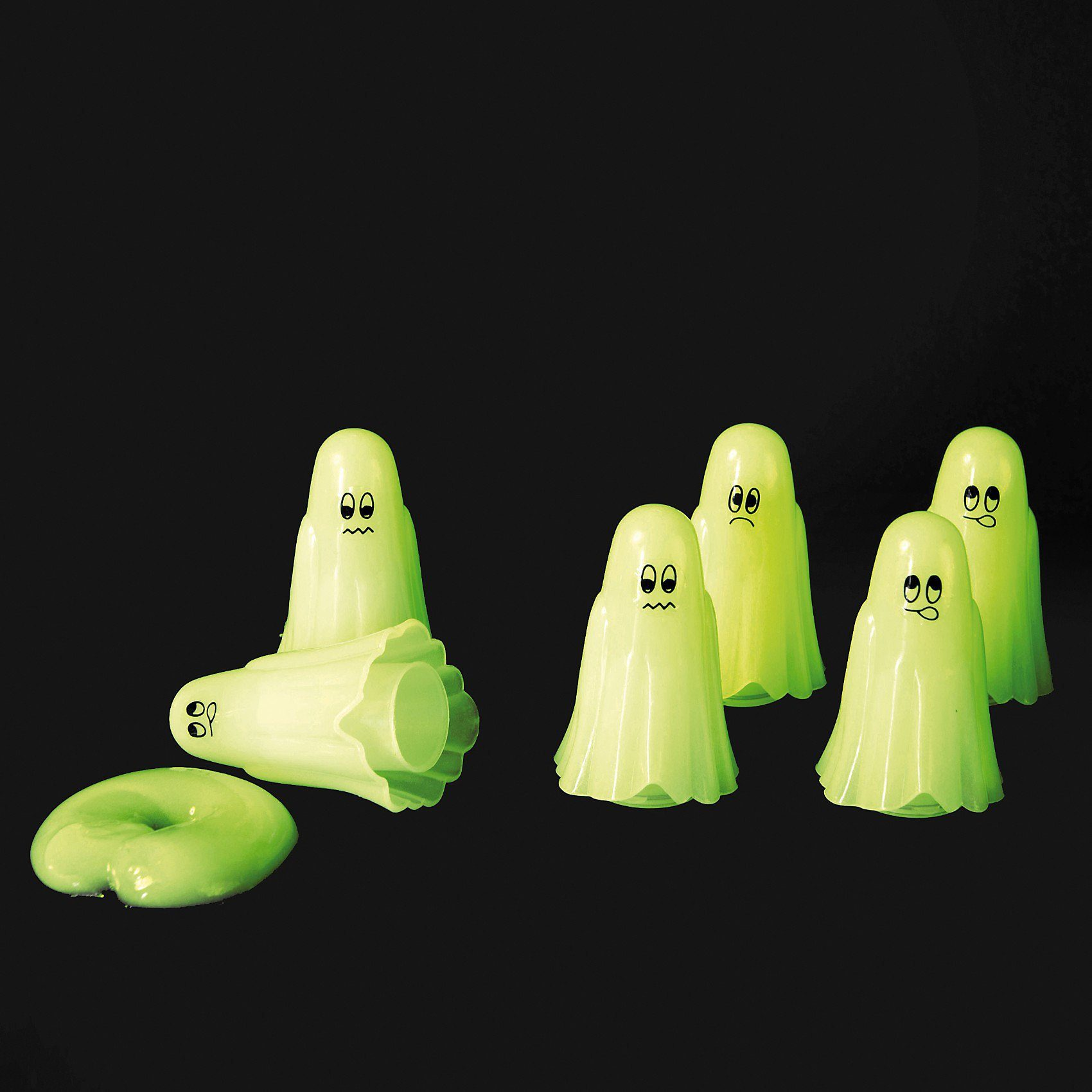 Geisterschleim Glow in the Dark, nachtleuchtend, 6 Stück