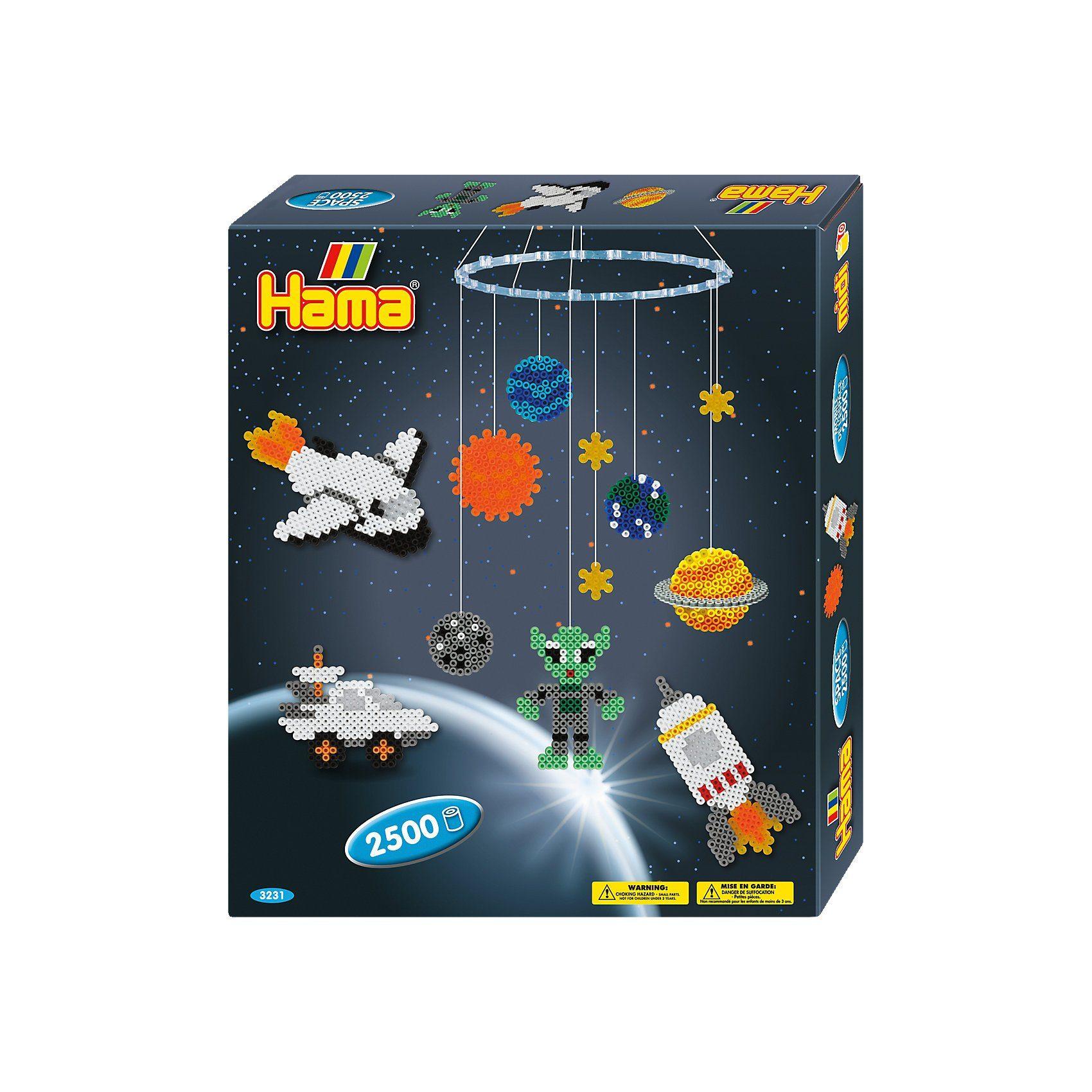 Hama Perlen HAMA 3231 Mobile Weltraum, 2.500 midi-Perlen & Zubehör