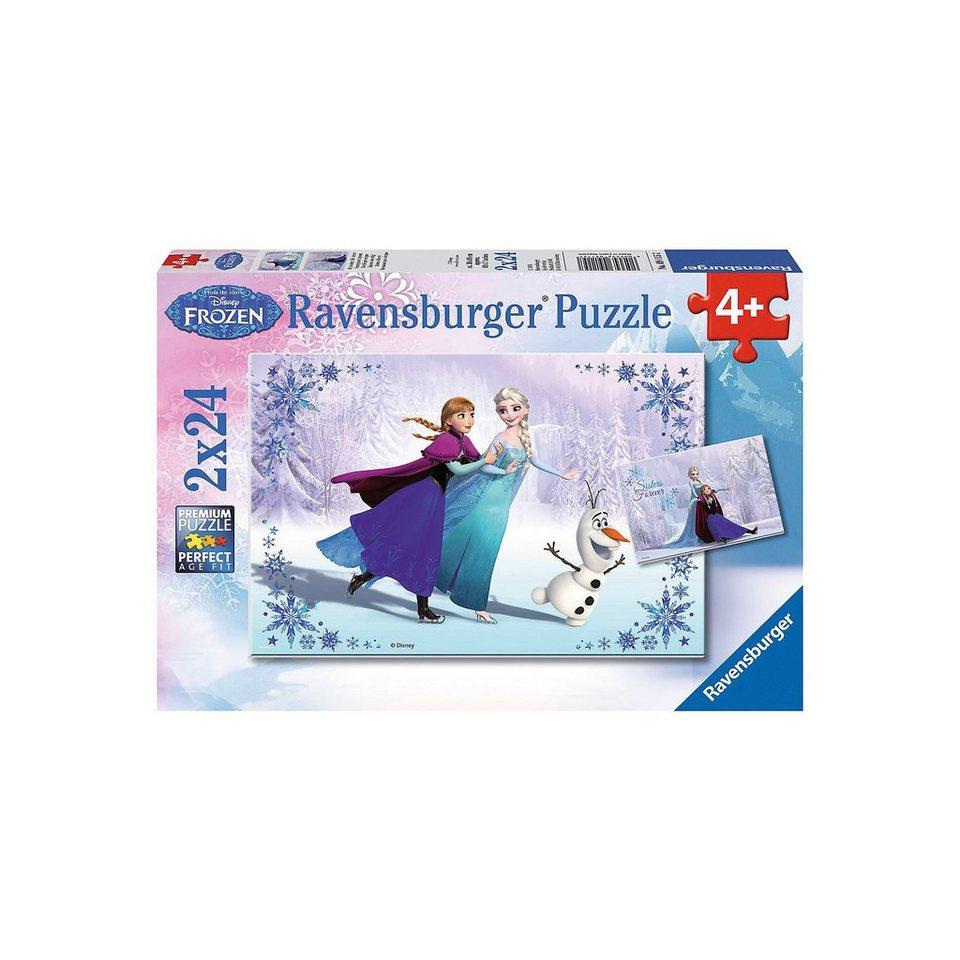 Ravensburger Disney Die Eiskönigin: Schwestern für immer 2 X 24 Teile