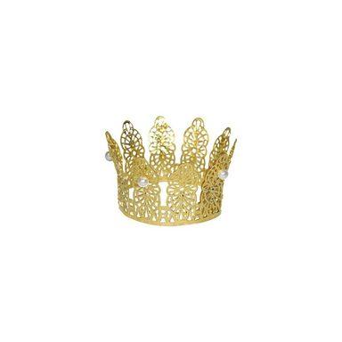 Funny Fashion Krone gold mit Perlen