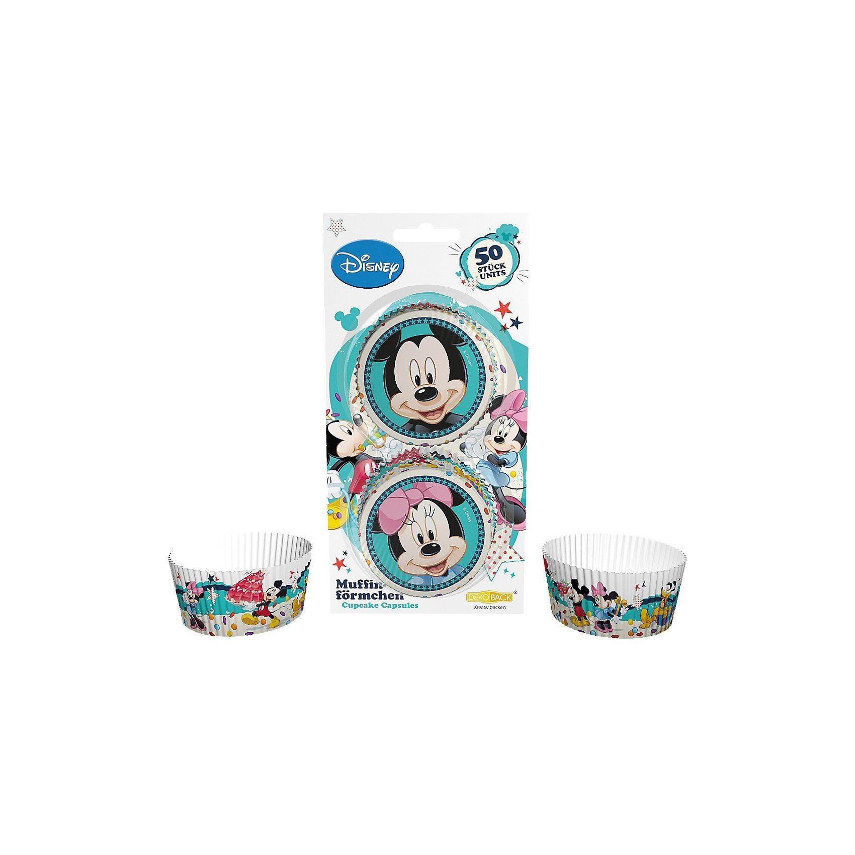 Dekoback Papier-Backförmchen Mickey & Minnie Mouse, 50 Stück