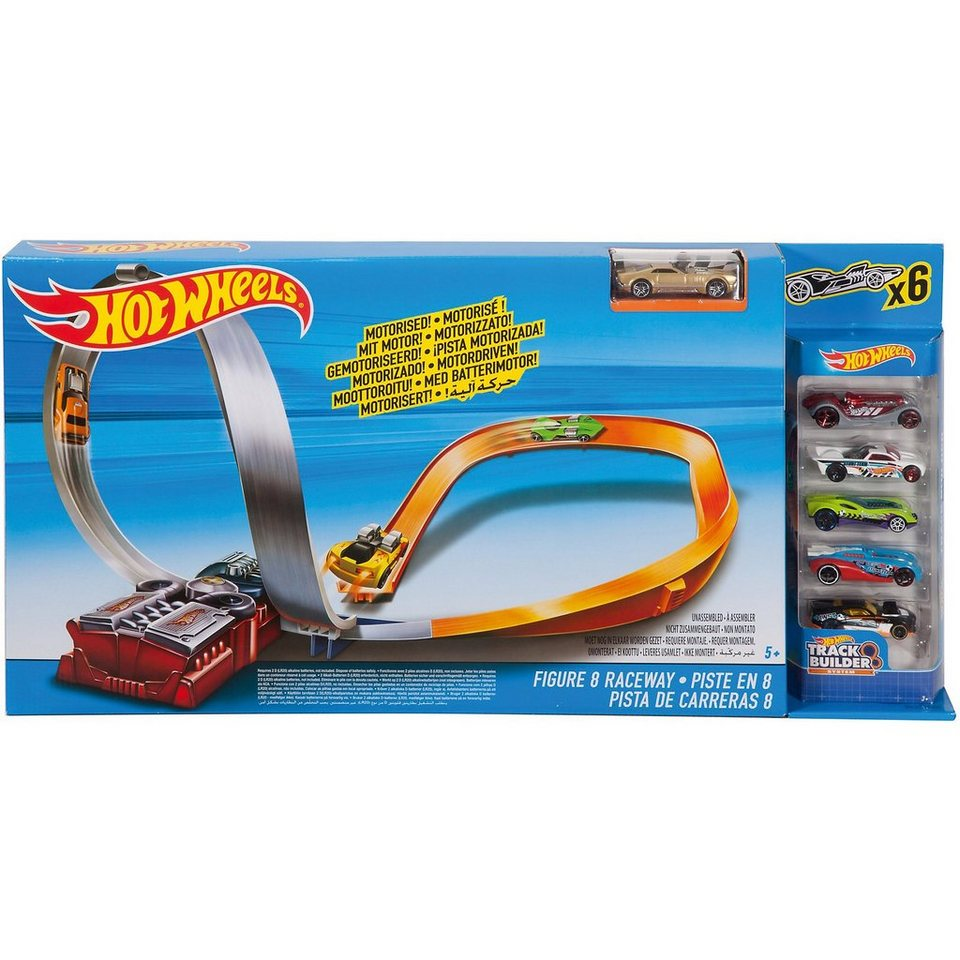 Mattel Hot Wheels FIG 8 RACEWAY W/5 CARS