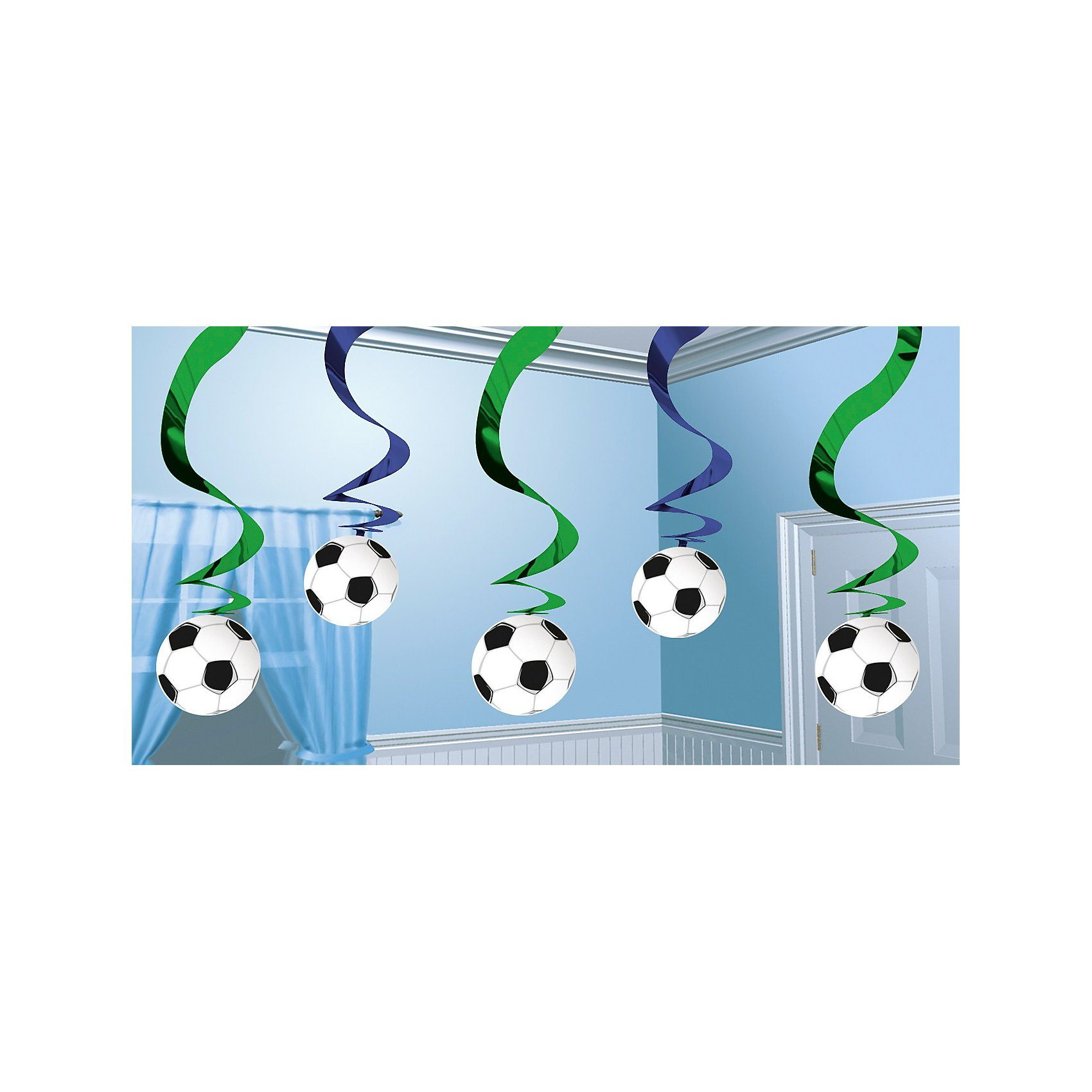 Amscan Foliengirlande Fußball