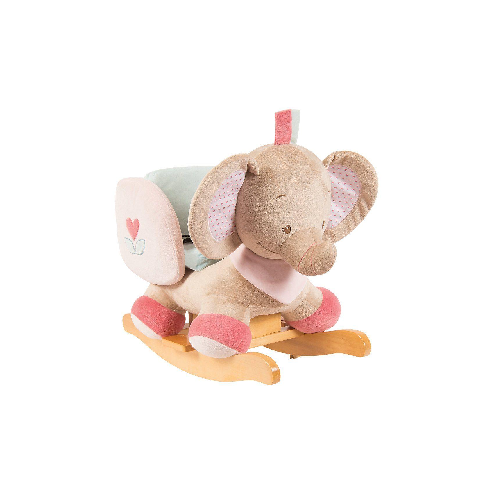 Nattou Schaukeltier Elefant Rose, Charlotte & Rose, rosa