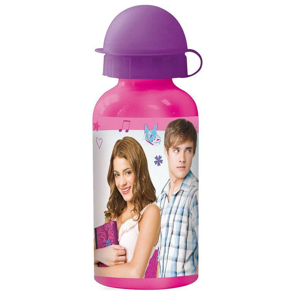 P:OS Alu-Trinkflasche Violetta, 400 ml in rosa