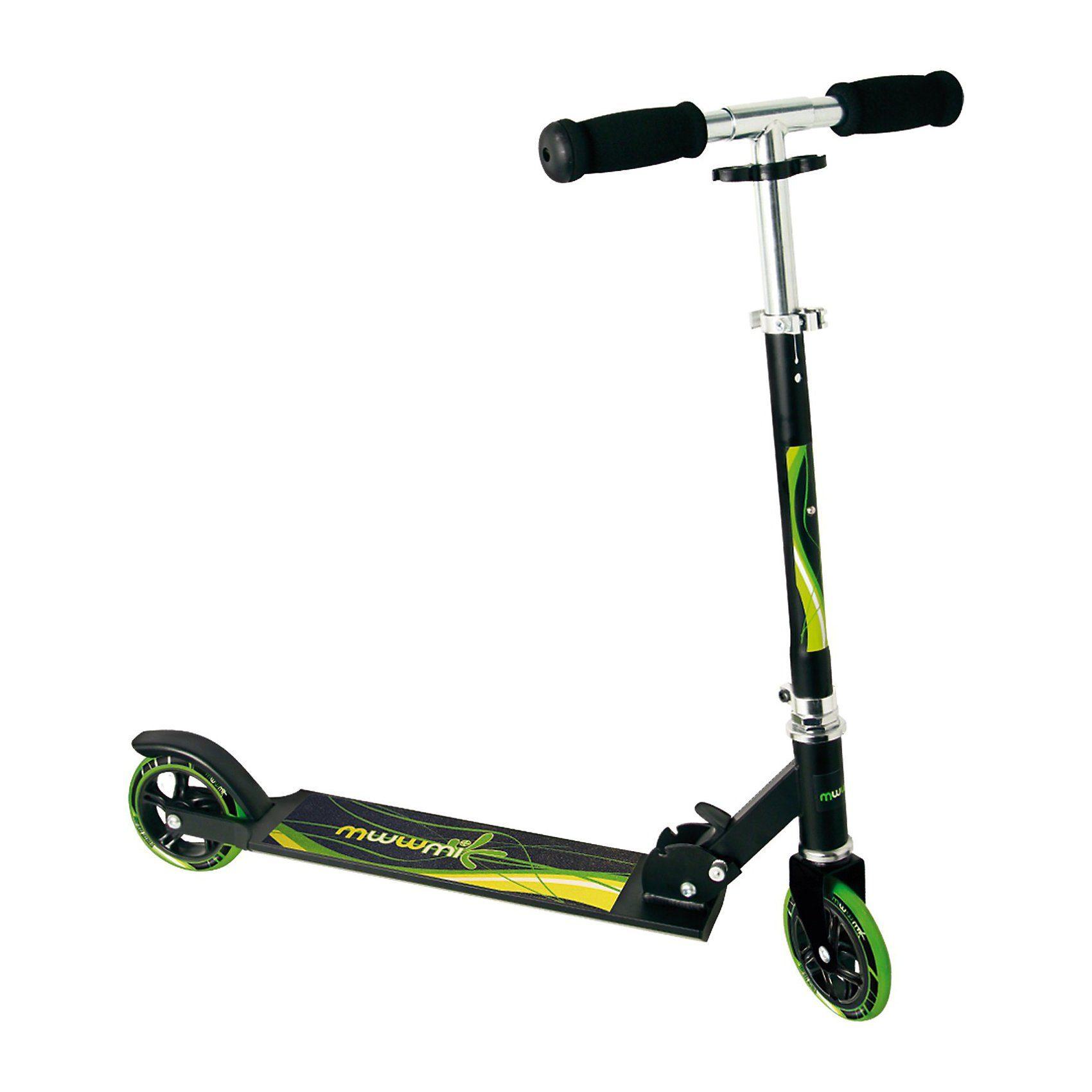 Muuwmi Scooter schwarz/grün 125 mm