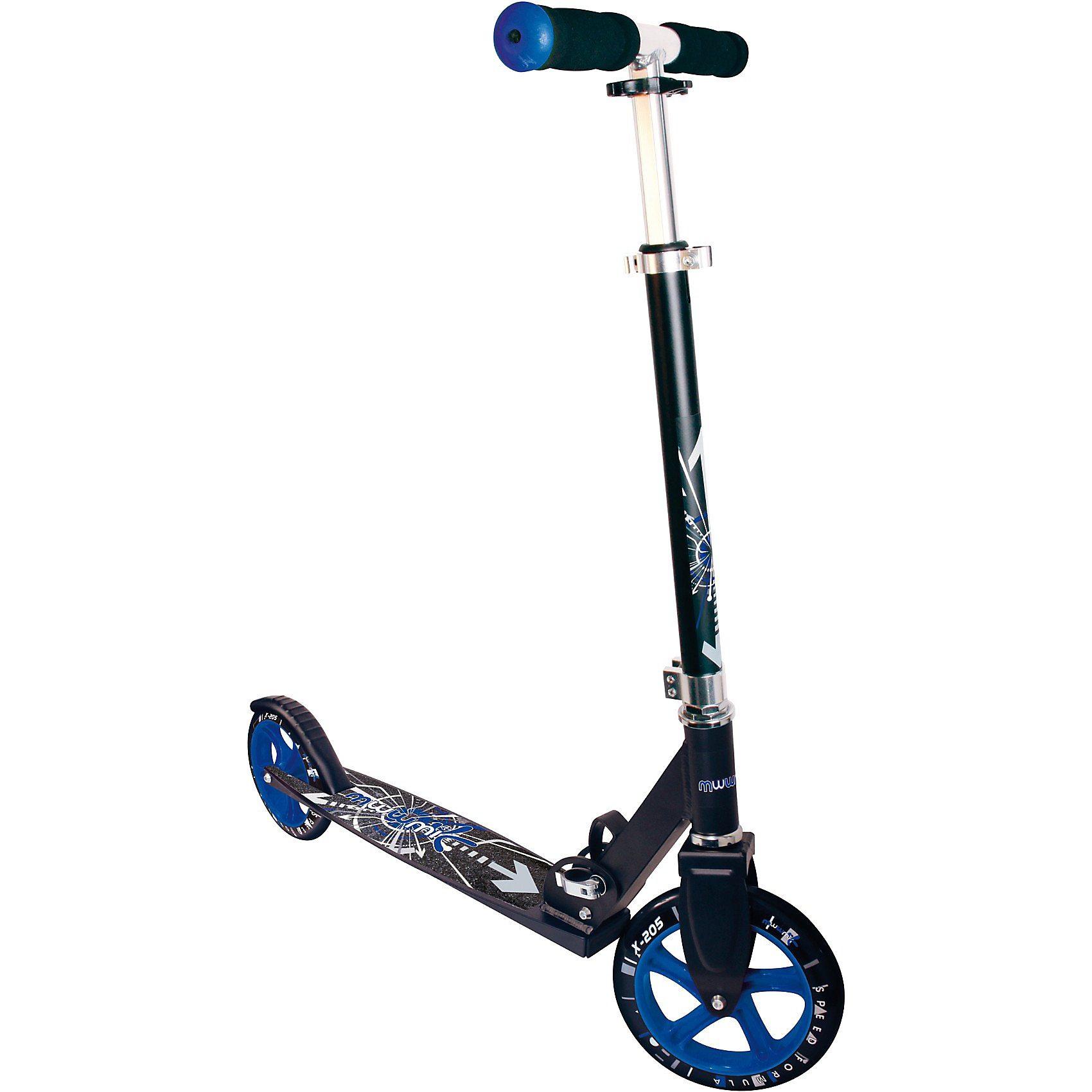 Muuwmi Scooter schwarz/blau 205 mm
