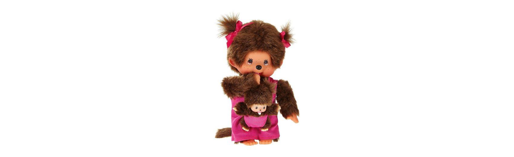 Monchhichi Mutter mit Kind, pink, 20cm