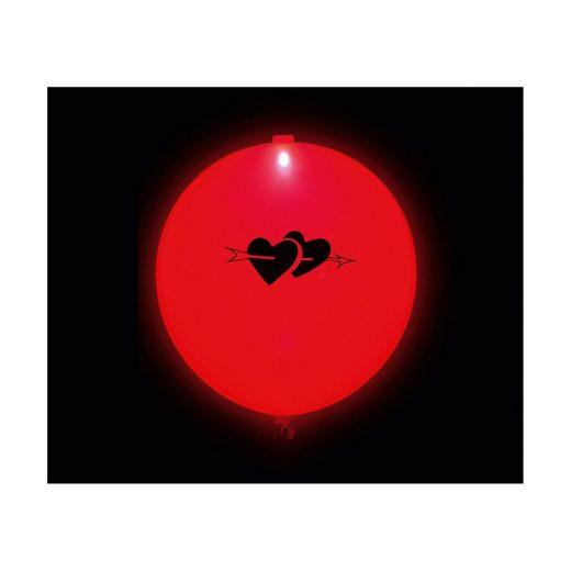 Happy People LED-Luftballons I Love You, 5 Stück