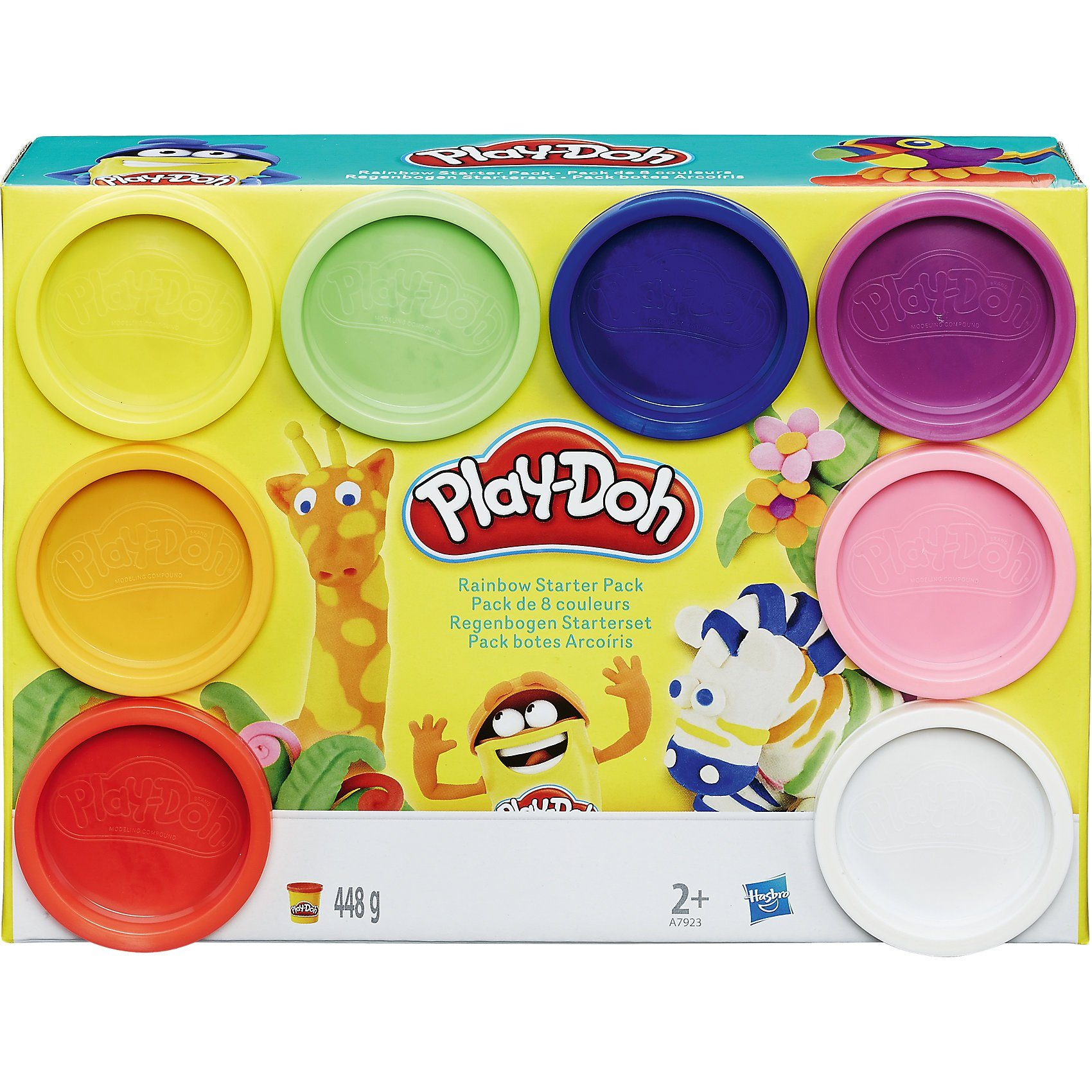 Hasbro Play-Doh - Knet-Dosen 8er-Pack - Rainbow of Colors