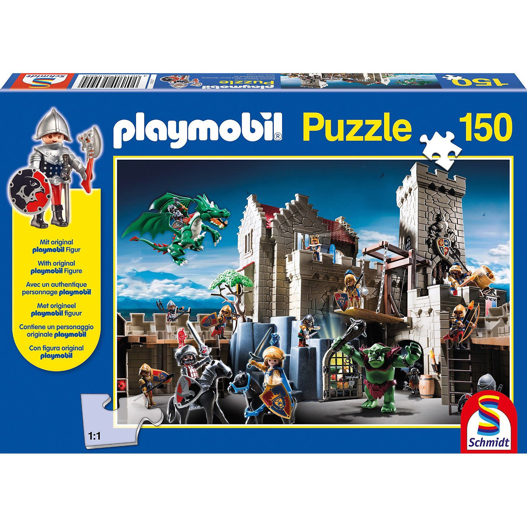 Schmidt Spiele Playmobil, Kampf um den Königsschatz, 150 Teile, mit Origina