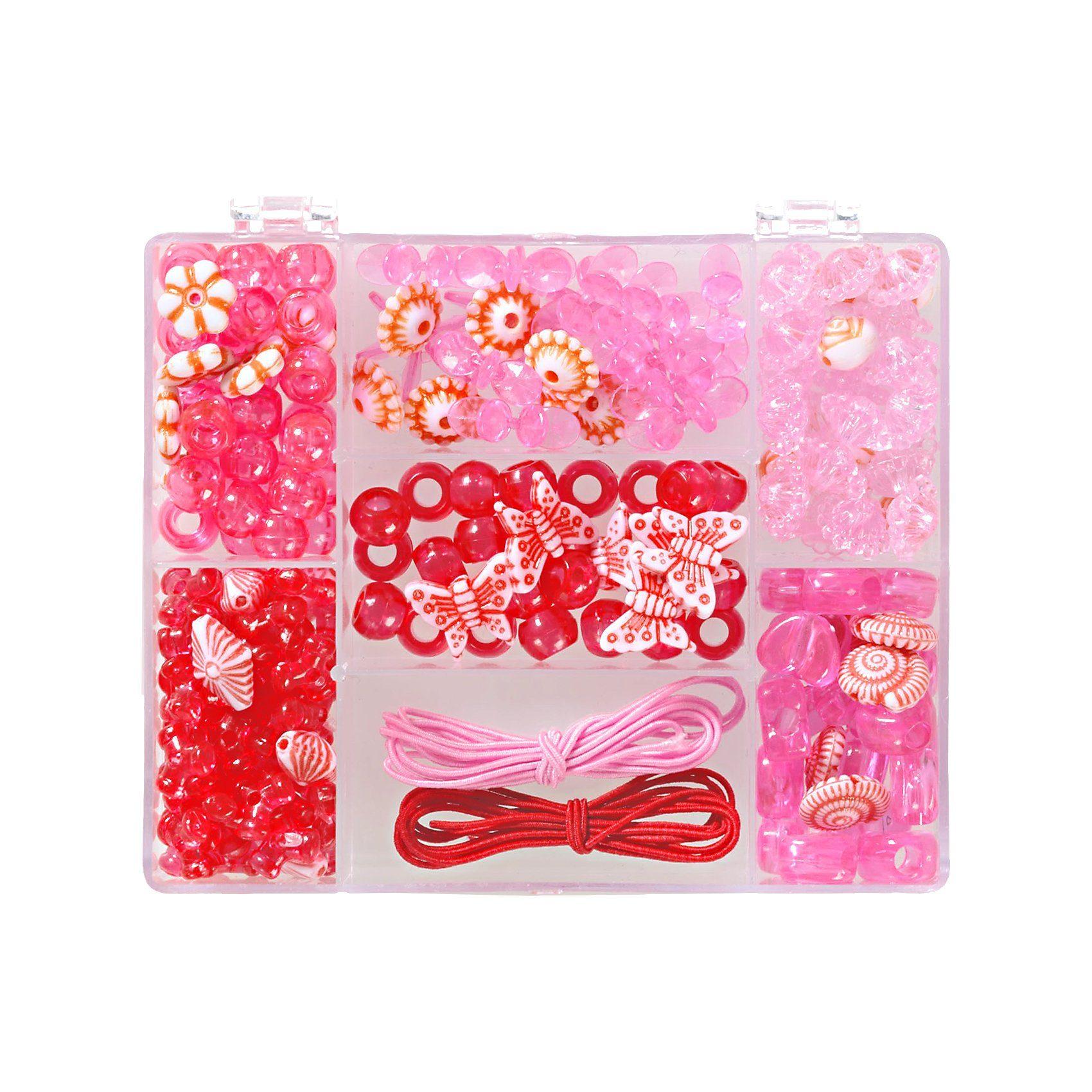 prohobb Perlenbox Rot/Pink, inkl. Stretchgummi