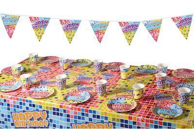 Partyset Birthday Blocks für 12 Personen
