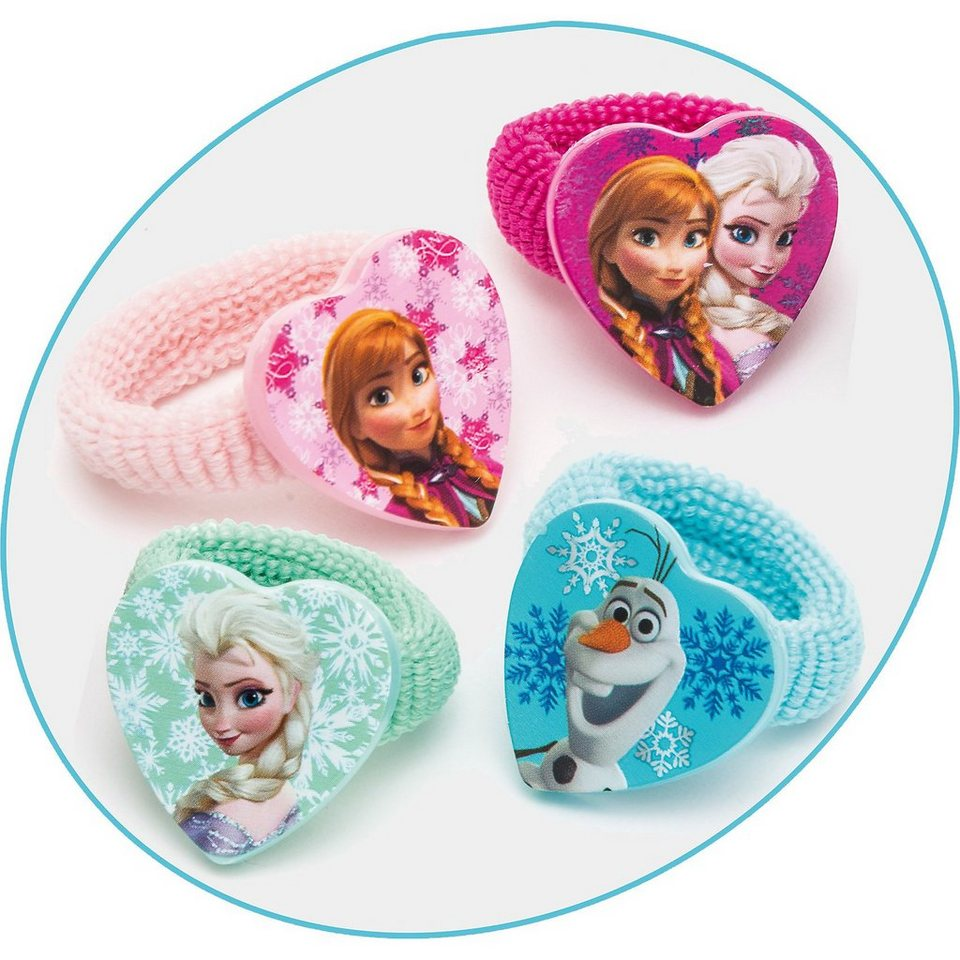 JOY TOY Zöpfchenhalter Disney Princess Frozen, 4 Motive in bunt