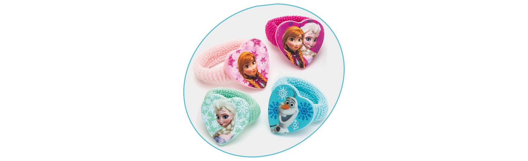 JOY TOY Zöpfchenhalter Disney Princess Frozen, 4 Motive
