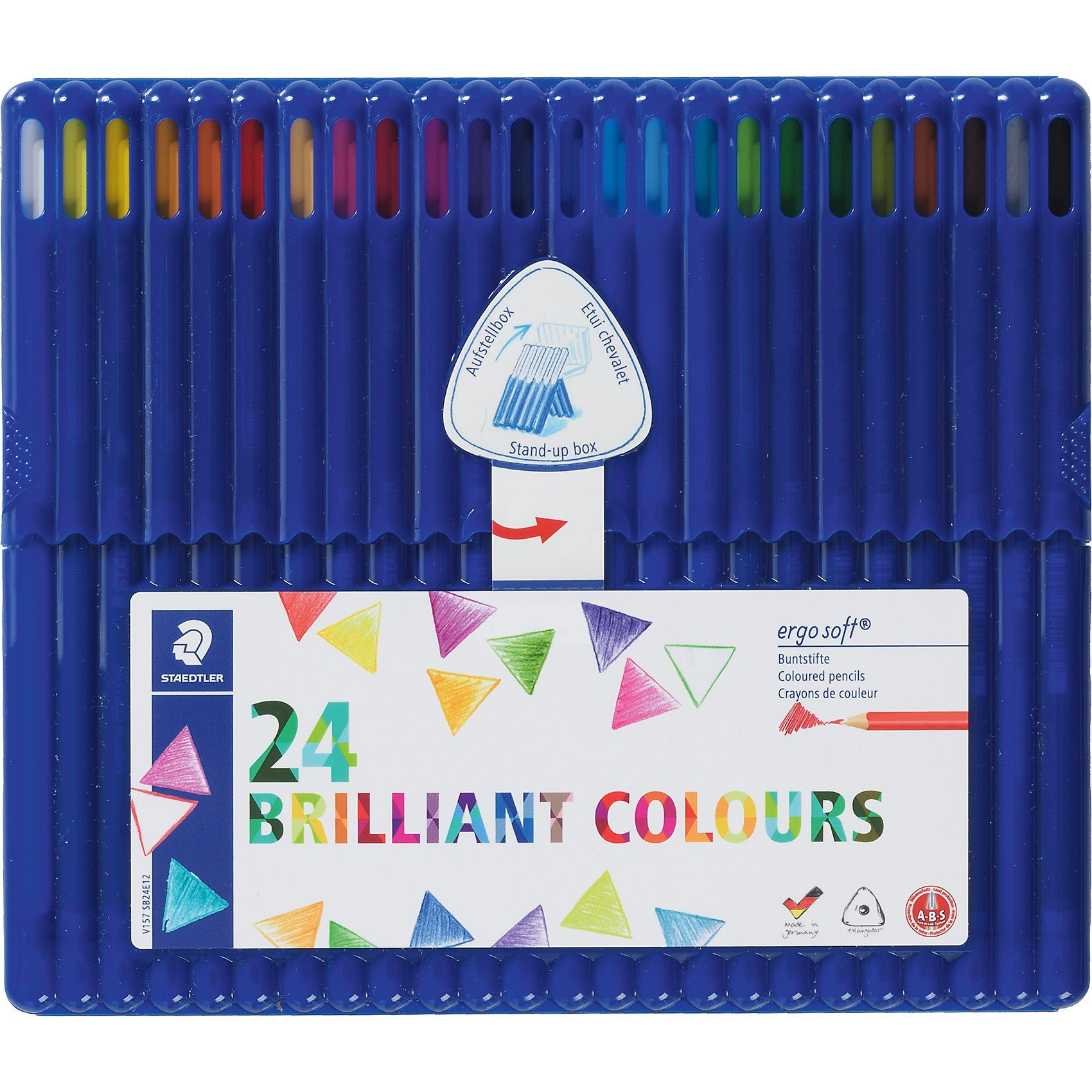 Staedtler Farbstifte ergosoft, 24 Farben in Aufstellbox