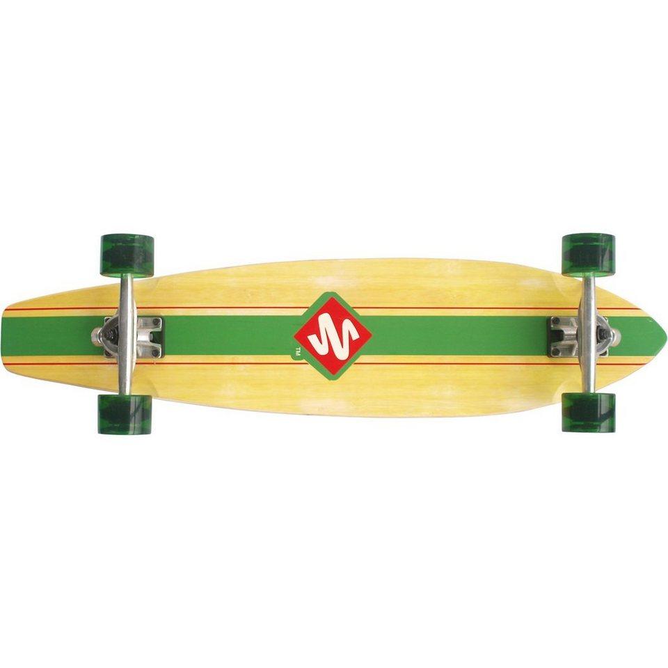 "Streetsurfing Longboard Kicktail 36"" - Infinity, grün in grün"