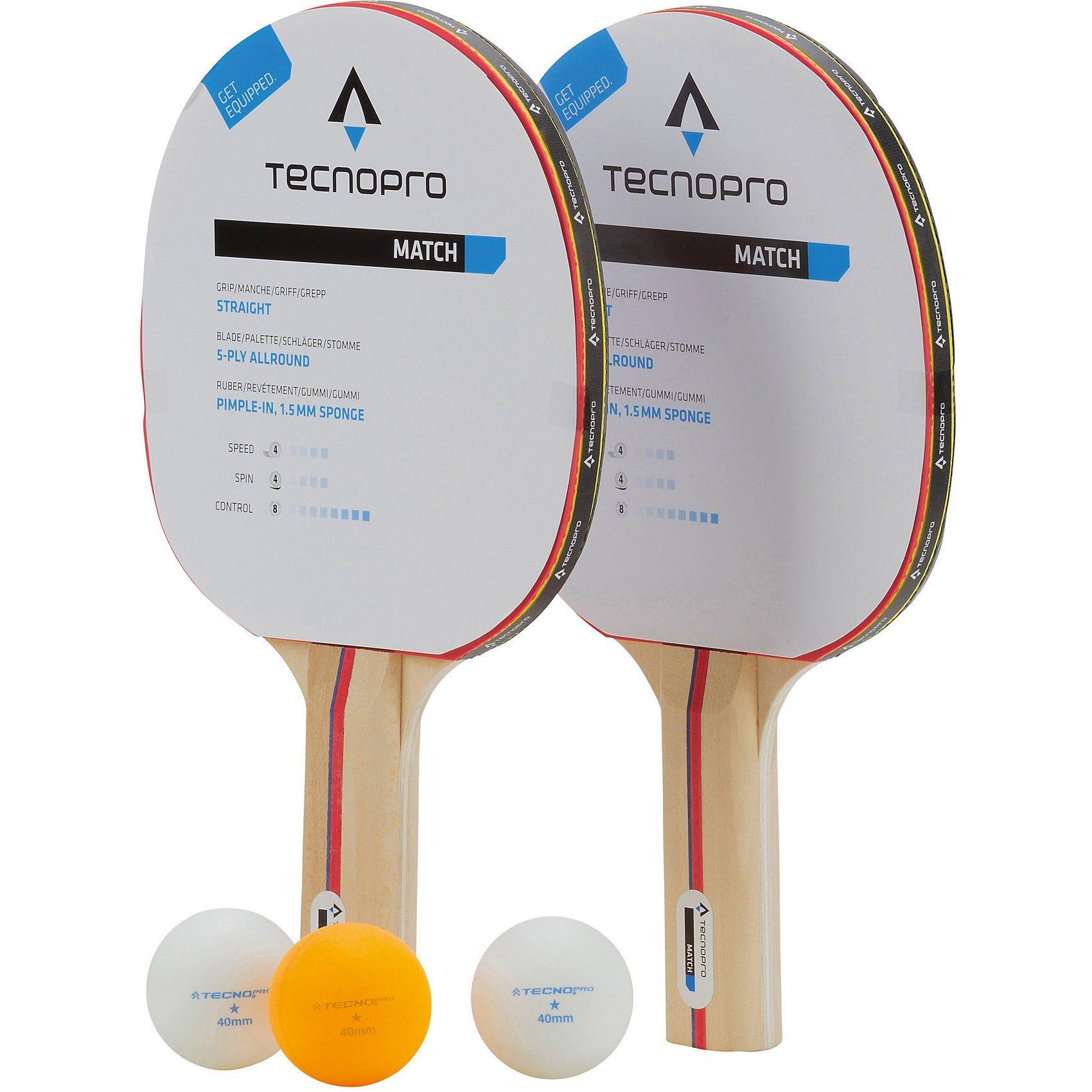 Tecnopro Tischtennisschläger Set Match DX