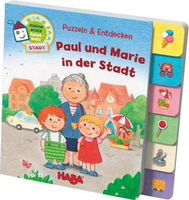 Haba Register-Puzzlebuch: Puzzlen & Entdecken - Paul aud Marie in