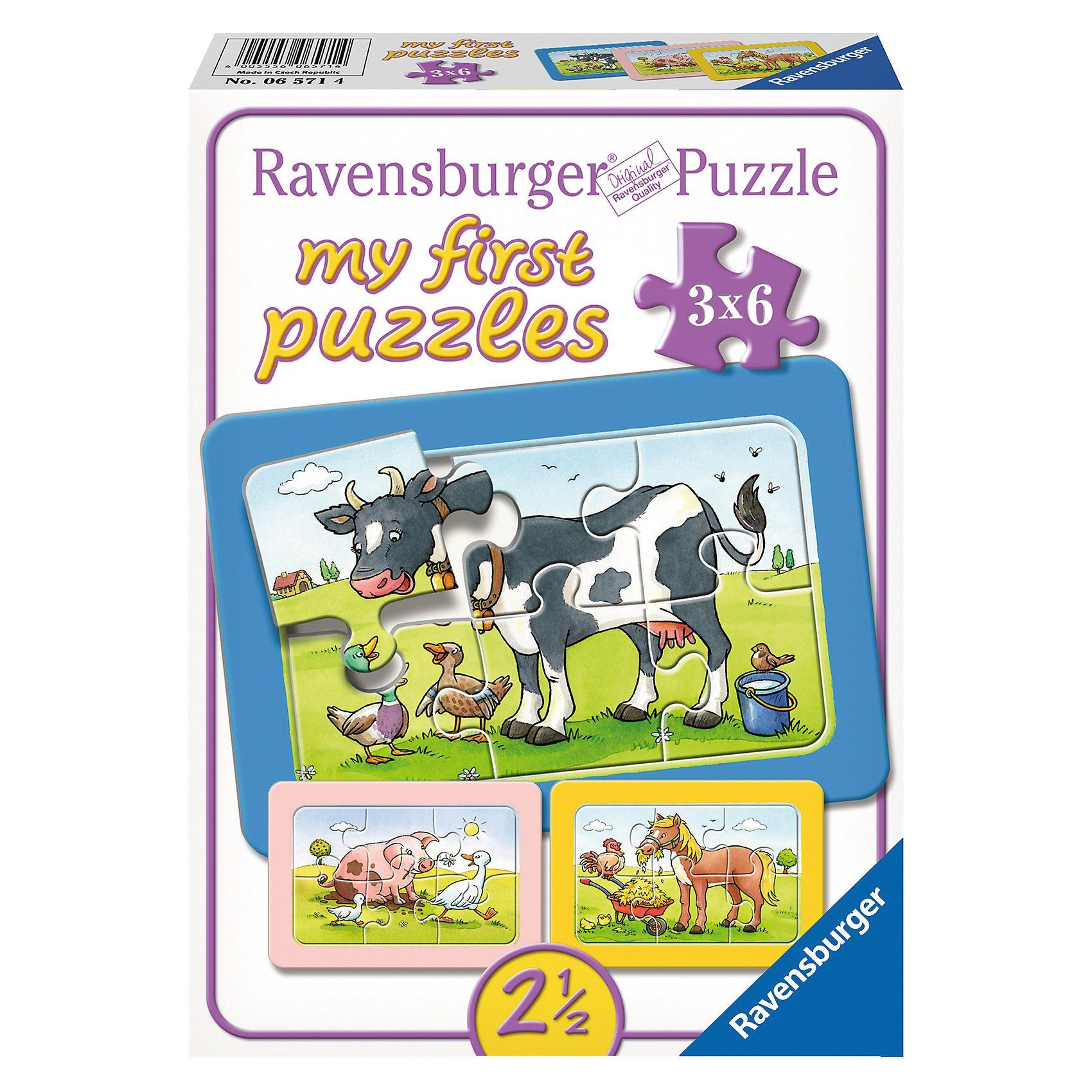 Ravensburger My first Puzzles - Rahmenpuzzle Gute Tierfreunde