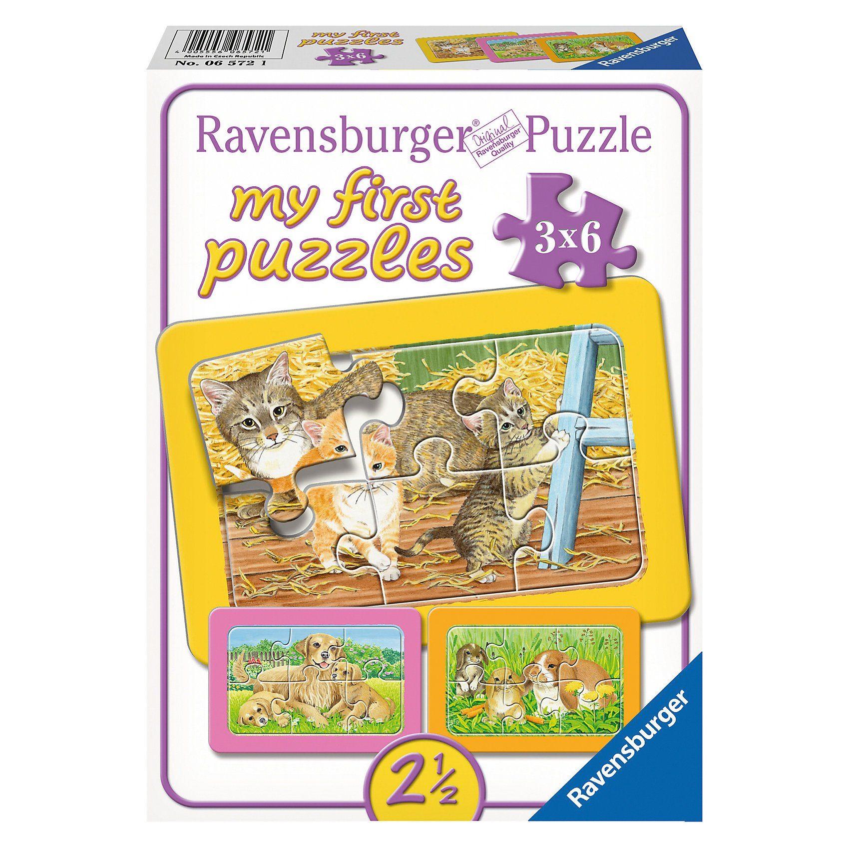 Ravensburger My first Puzzles - Rahmenpuzzle Liebste Haustiere