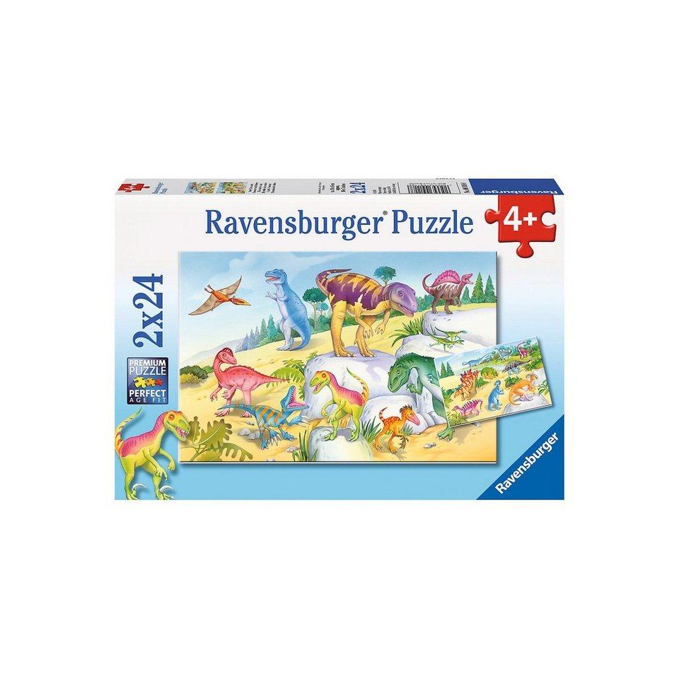 Ravensburger 2x24 Teile Bunte Dinosaurier