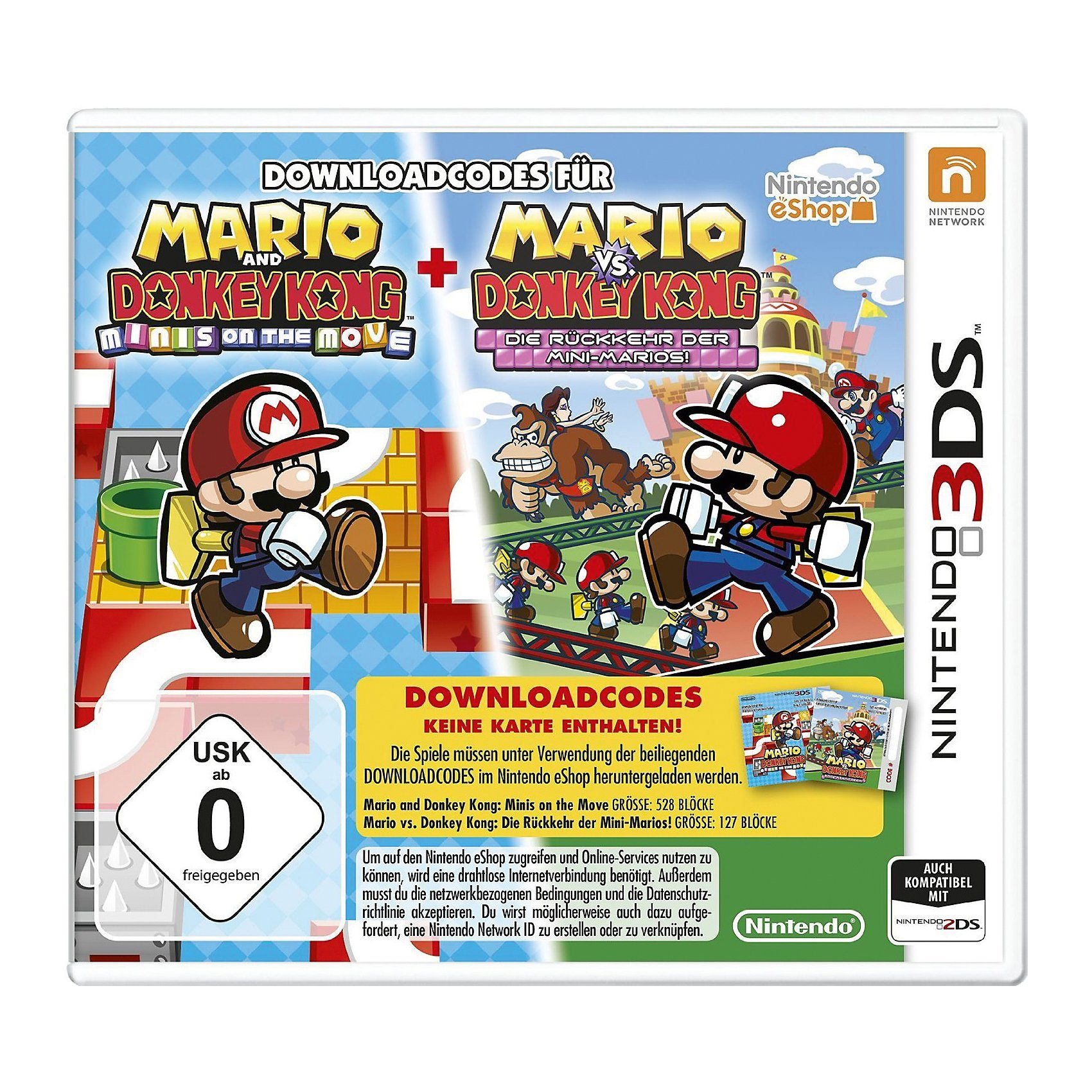 Nintendo 3DS Mario & Donkey Kong : Move & March (Downloadcode)