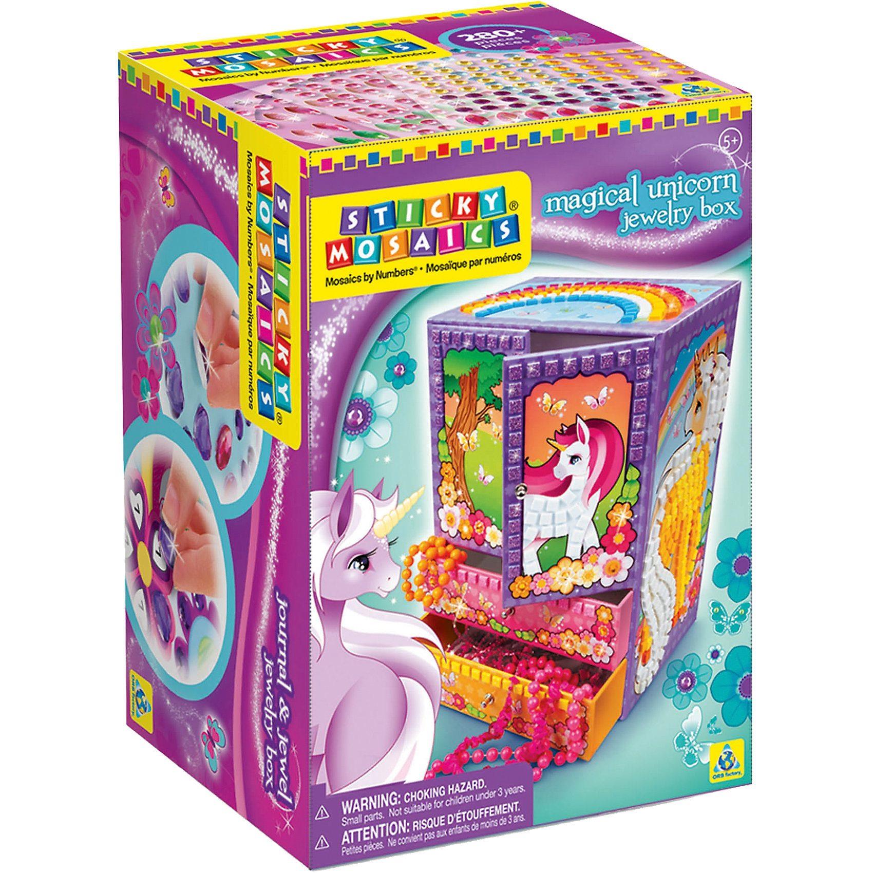 Sticky Mosaics Magische Juwelenbox Einhorn